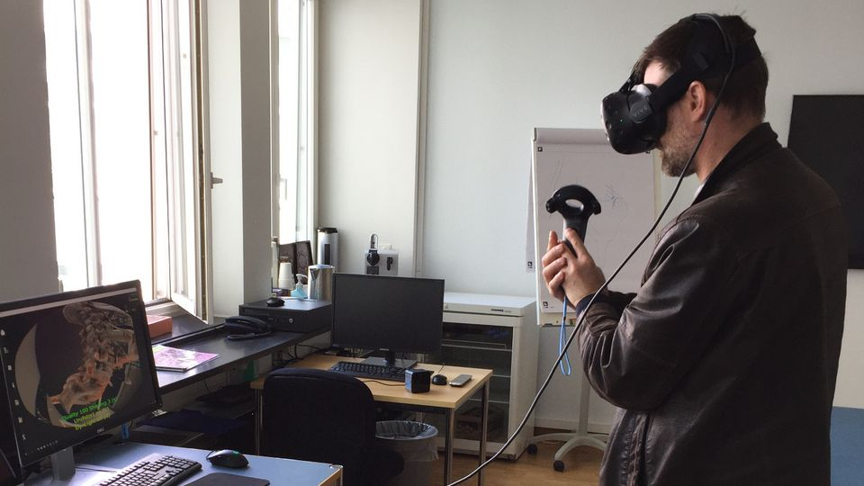 First patient uses SpectoVR software during a consultation at the University Hospital Basel